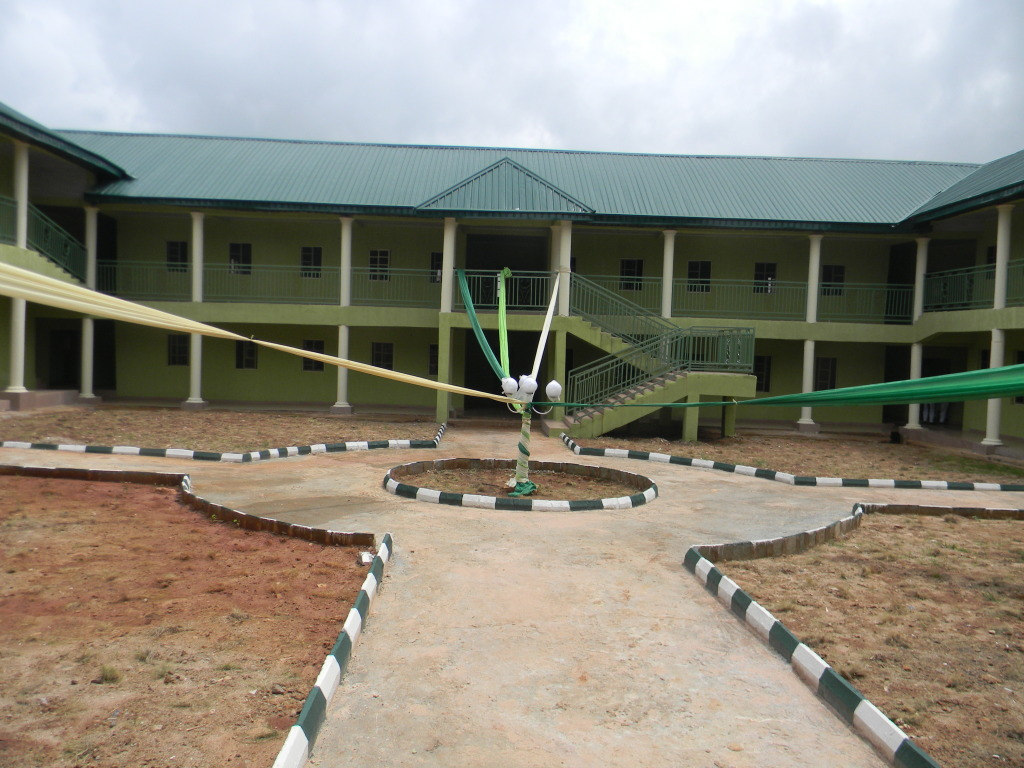 Front view of the newly constructed students  hostel